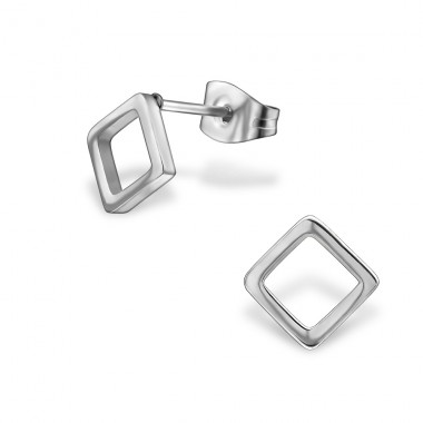 Square - 316L Surgical Grade Stainless Steel Steel Ear Studs A4S29810