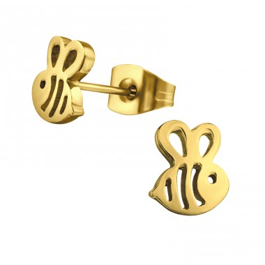 Bee - 316L Surgical Grade Stainless Steel Steel Ear Studs A4S29813