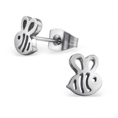 Bee - 316L Surgical Grade Stainless Steel Steel Ear Studs A4S29814