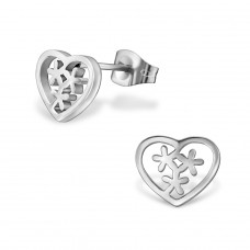 Heart - 316L Surgical Grade Stainless Steel Steel Ear Studs A4S29832