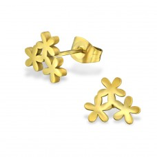 Flower - 316L Surgical Grade Stainless Steel Steel Ear Studs A4S29835