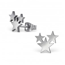 Star - 316L Surgical Grade Stainless Steel Steel Ear Studs A4S29838