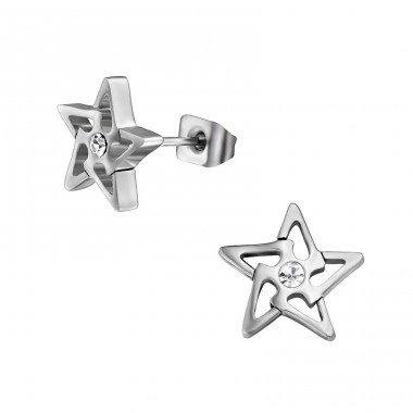 Star - 316L Surgical Grade Stainless Steel Steel Ear Studs A4S30172