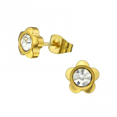 Flower - 316L Surgical Grade Stainless Steel Steel Ear Studs A4S30175