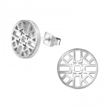 Aztec - 316L Surgical Grade Stainless Steel Steel Ear Studs A4S30190