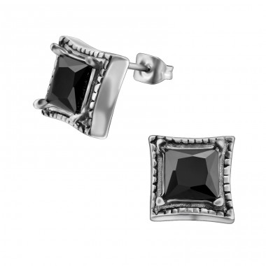 Gothic - 316L Surgical Grade Stainless Steel Steel Ear Studs A4S30193