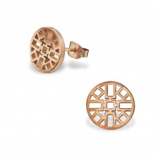 Aztec - 316L Surgical Grade Stainless Steel Steel Ear Studs A4S31502