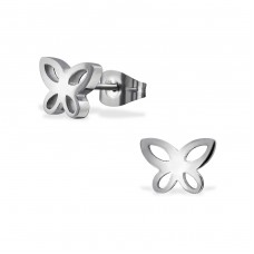 Butterfly - 316L Surgical Grade Stainless Steel Steel Ear Studs A4S31503
