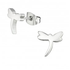 Dragonfly - 316L Surgical Grade Stainless Steel Steel Ear Studs A4S31504