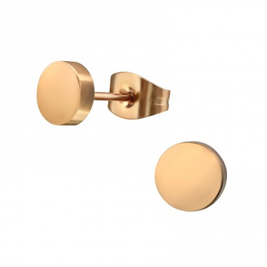 Round - 316L Surgical Grade Stainless Steel Steel Ear Studs A4S31727