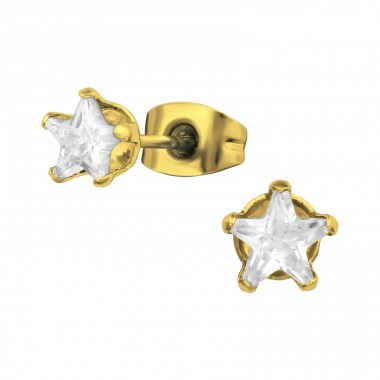 Star - 316L Surgical Grade Stainless Steel Steel Ear Studs A4S31736