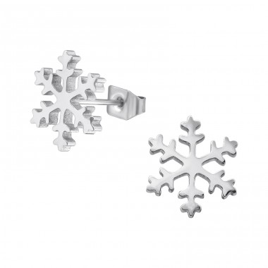 Snowflake  - 316L Surgical Grade Stainless Steel Steel Ear Studs A4S31839