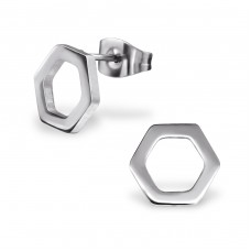 Geometric - 316L Surgical Grade Stainless Steel Steel Ear Studs A4S31840