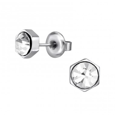 Geometric - 316L Surgical Grade Stainless Steel Steel Ear Studs A4S31843