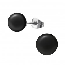 Synthetic Pearl 8mm - 316L Surgical Grade Stainless Steel Steel Ear Studs A4S31874