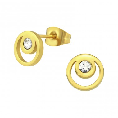 Circle - 316L Surgical Grade Stainless Steel Steel Ear Studs A4S31882