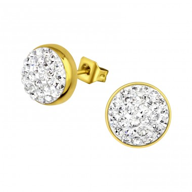 Round - 316L Surgical Grade Stainless Steel Steel Ear Studs A4S31888