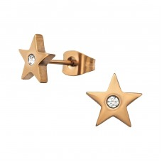Star - 316L Surgical Grade Stainless Steel Steel Ear Studs A4S32373