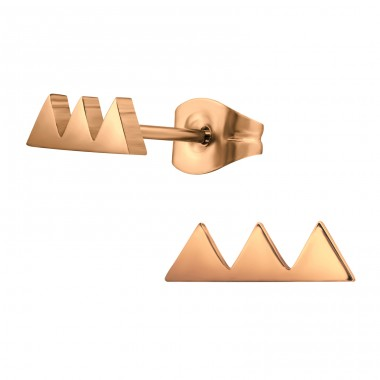 Triple Triangle - 316L Surgical Grade Stainless Steel Steel Ear Studs A4S32621