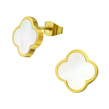 Flower - 316L Surgical Grade Stainless Steel Steel Ear Studs A4S32637