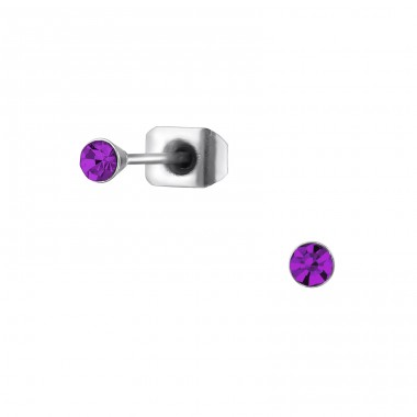 Round - 316L Surgical Grade Stainless Steel Steel Ear Studs A4S32648