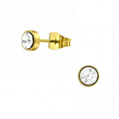 Round - 316L Surgical Grade Stainless Steel Steel Ear Studs A4S33954