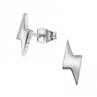 Thunderbolt - 316L Surgical Grade Stainless Steel Steel Ear Studs A4S34173