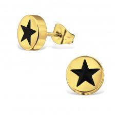 Star - 316L Surgical Grade Stainless Steel Steel Ear Studs A4S34174