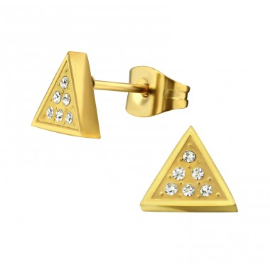 Triangle - 316L Surgical Grade Stainless Steel Steel Ear Studs A4S34175