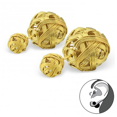 Knot - 316L Surgical Grade Stainless Steel Steel Ear Studs A4S34272