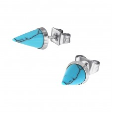Cone - 316L Surgical Grade Stainless Steel Steel Ear Studs A4S34739