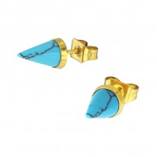 Cone - 316L Surgical Grade Stainless Steel Steel Ear Studs A4S34740