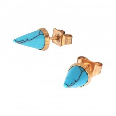 Cone - 316L Surgical Grade Stainless Steel Steel Ear Studs A4S34741