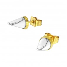 Cone - 316L Surgical Grade Stainless Steel Steel Ear Studs A4S34743