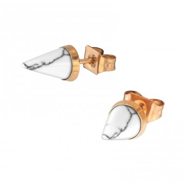Cone - 316L Surgical Grade Stainless Steel Steel Ear Studs A4S34744