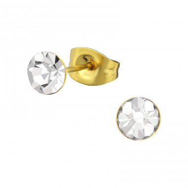 5mm - 316L Surgical Grade Stainless Steel Steel Ear Studs A4S34745