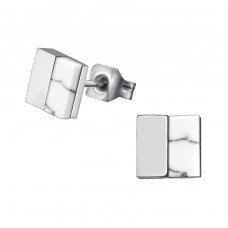 Square - 316L Surgical Grade Stainless Steel Steel Ear Studs A4S34758