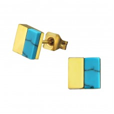 Square - 316L Surgical Grade Stainless Steel Steel Ear Studs A4S34759