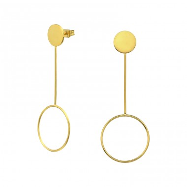 Geometric - 316L Surgical Grade Stainless Steel Steel Ear Studs A4S34768