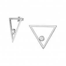 Triangle - 316L Surgical Grade Stainless Steel Steel Ear Studs A4S34773