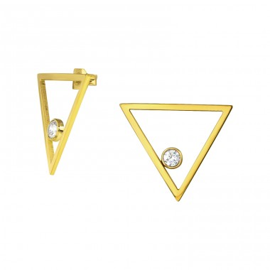 Triangle - 316L Surgical Grade Stainless Steel Steel Ear Studs A4S34774