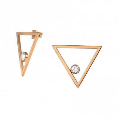 Triangle - 316L Surgical Grade Stainless Steel Steel Ear Studs A4S34775