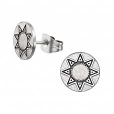 Sun - 316L Surgical Grade Stainless Steel Steel Ear Studs A4S34778