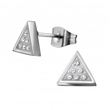 Triangle - 316L Surgical Grade Stainless Steel Steel Ear Studs A4S35015