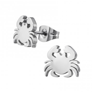 Crab - 316L Surgical Grade Stainless Steel Steel Ear Studs A4S37711