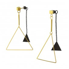 Triangle - 316L Surgical Grade Stainless Steel Steel Ear Studs A4S37716