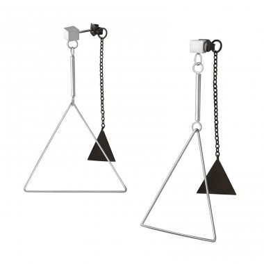 Triangle - 316L Surgical Grade Stainless Steel Steel Ear Studs A4S37717