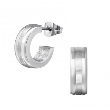Half Hoop - 316L Surgical Grade Stainless Steel Steel Ear Studs A4S37718