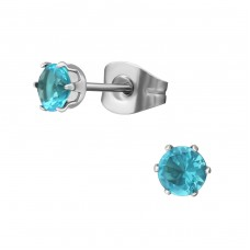 4mm - 316L Surgical Grade Stainless Steel Steel Ear Studs A4S37825