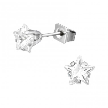 Star 6mm - 316L Surgical Grade Stainless Steel Steel Ear Studs A4S41044
